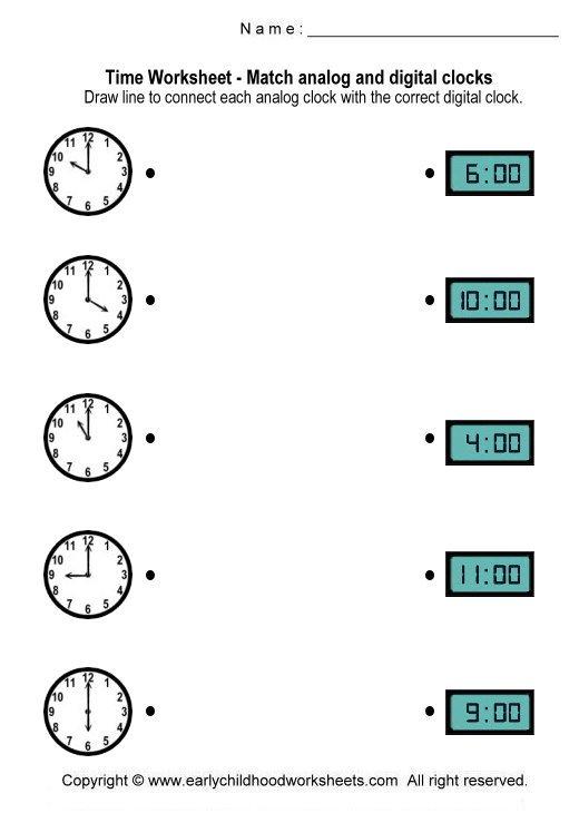 Analog Clock Worksheets