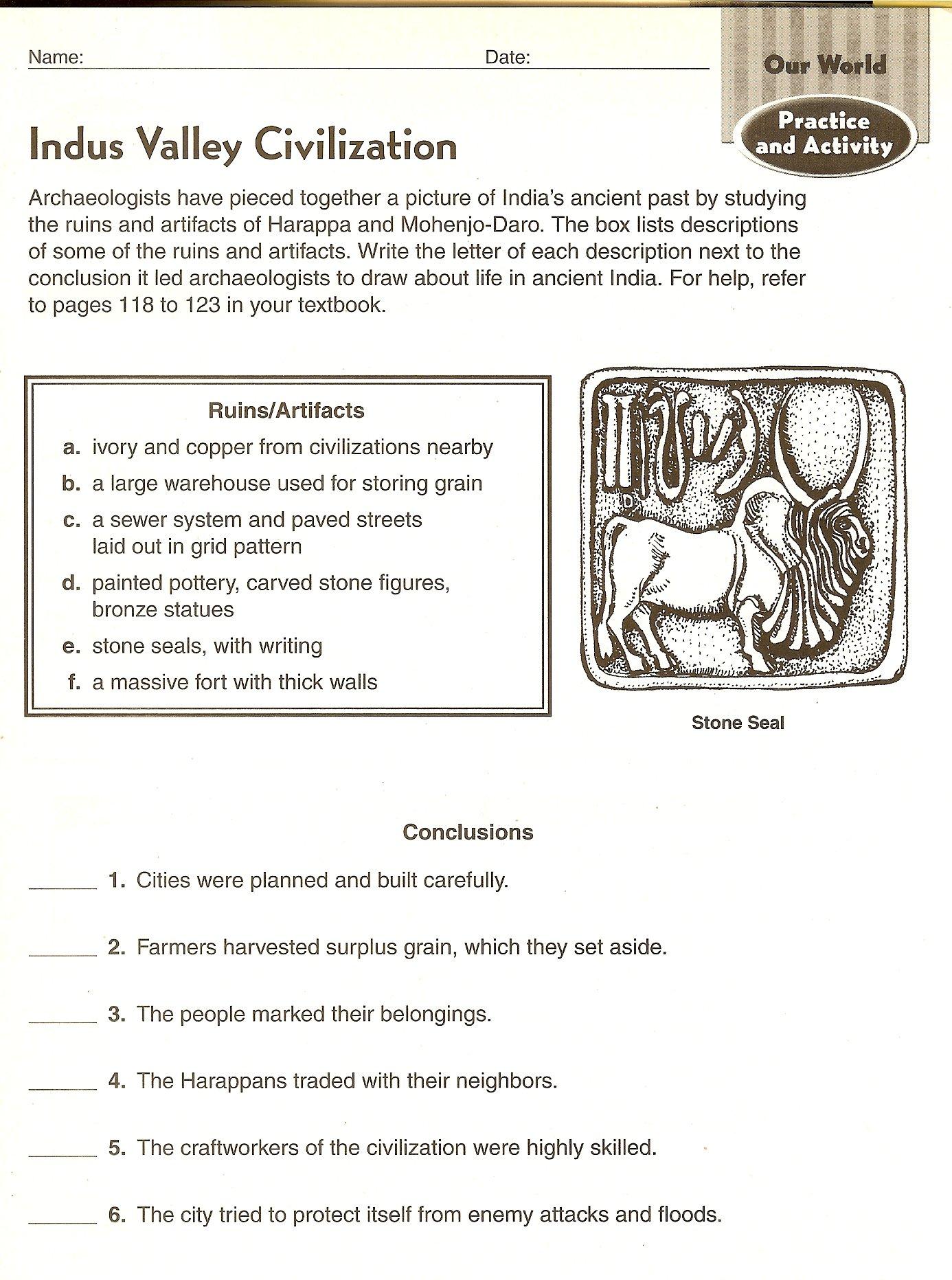 Ancient Civilizations Worksheets