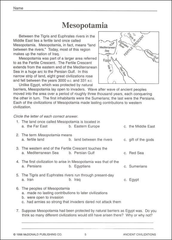 Ancient Civilizations Worksheets Worksheets For All