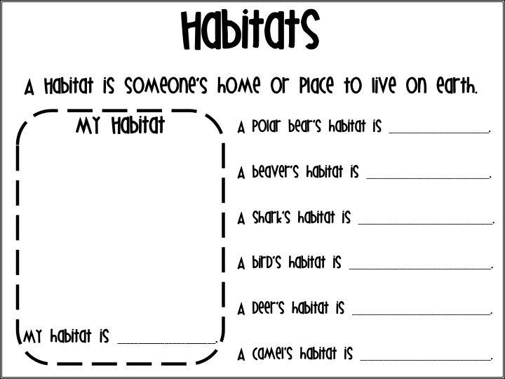 Animal Habitats Worksheets For First Grade Worksheets For All