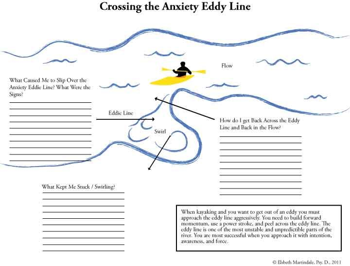 Anxiety Worksheets Anxiety Worksheet And It Has To Do With Rafting