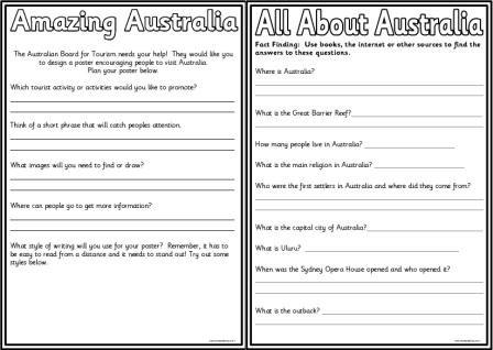 Australia Worksheets For Kids Worksheets For All