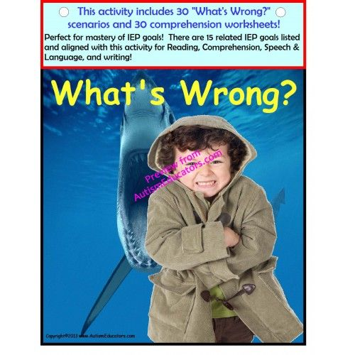 Autism Reading Comprehension Speech And Language Activity Book And