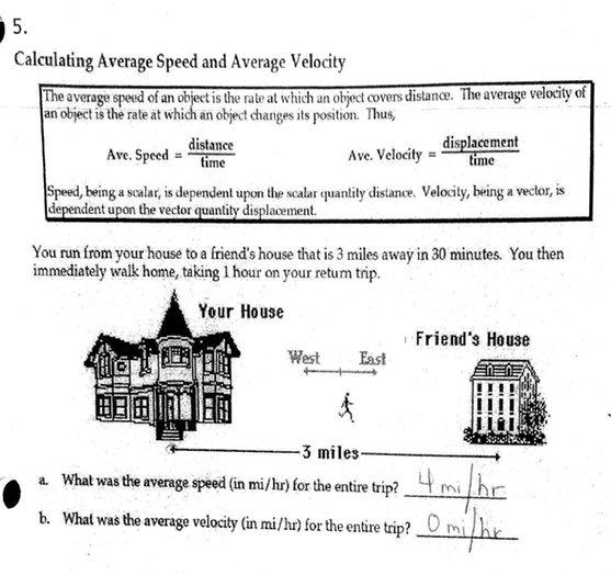 Average Velocity Worksheet Worksheets For All