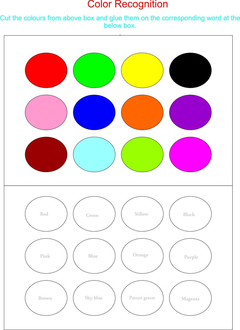 Awesome Collection Of Color Recognition Worksheets For
