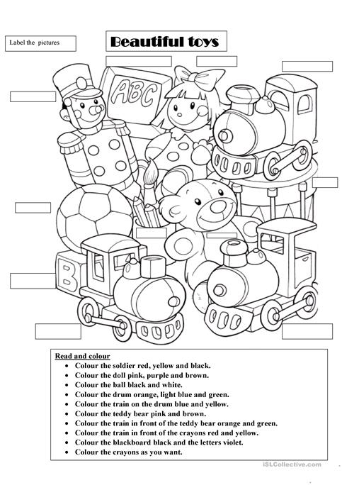 Beautiful Toys Worksheet