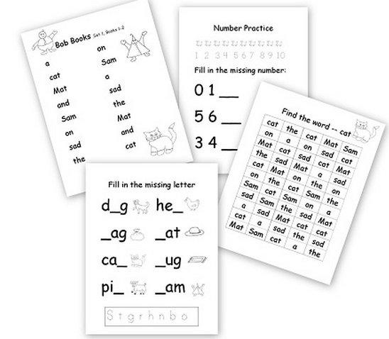 Beginning Reader Worksheets