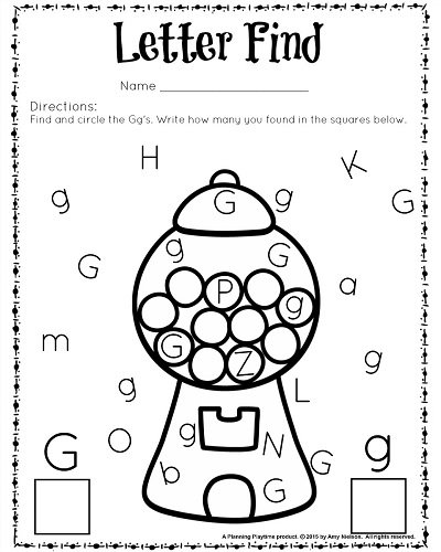 Best Ideas Of Letter G Worksheets For Preschool About Download