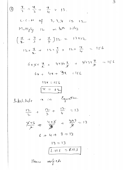 Best Solutions Of Linear Equations In One Variable Worksheets For