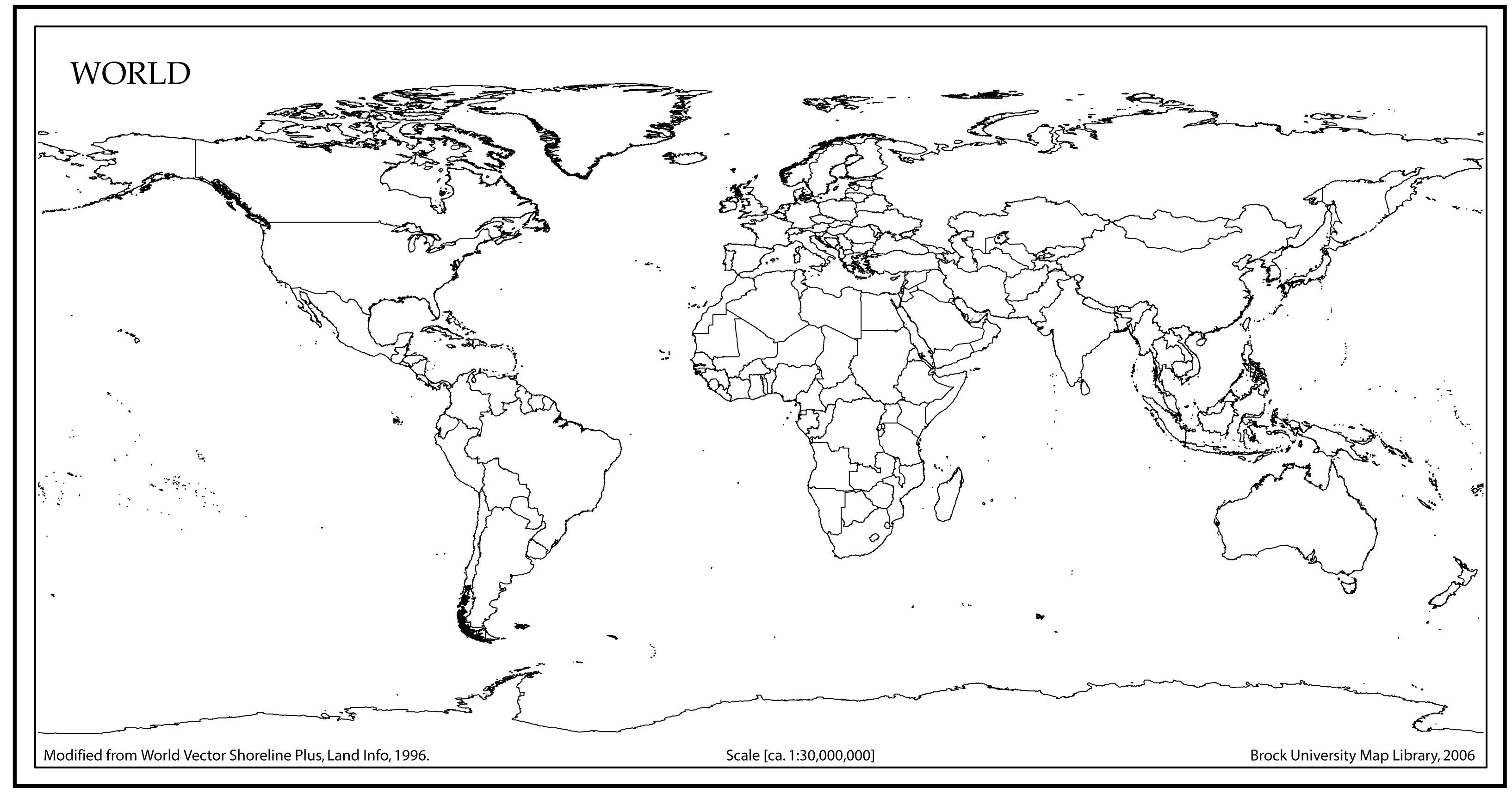 Blank World Map Continents Pdf Best Of With Scale Ks2 Printable