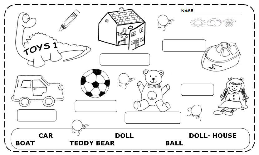 Captivating English Worksheets Toys For Your Toys