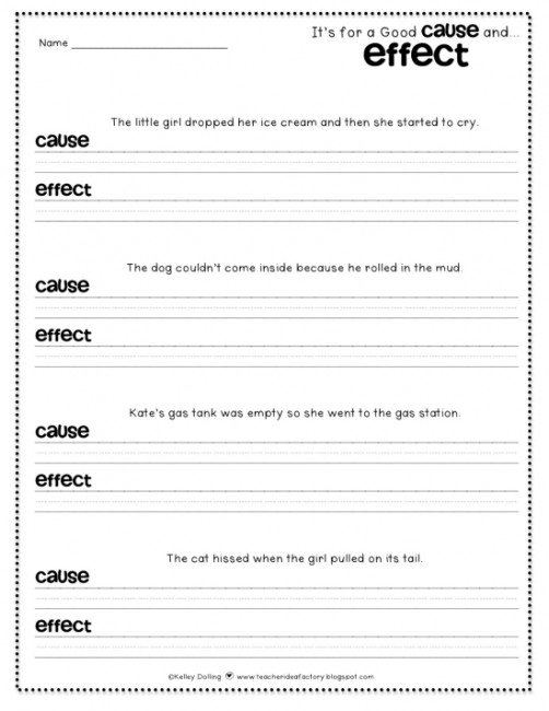Cause And Effect Worksheets For 4th Grade Worksheets For All
