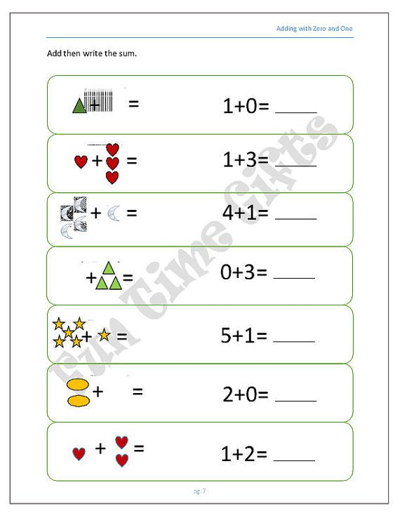 Chic Zero Worksheets Preschool Also Items Similar To Adding By