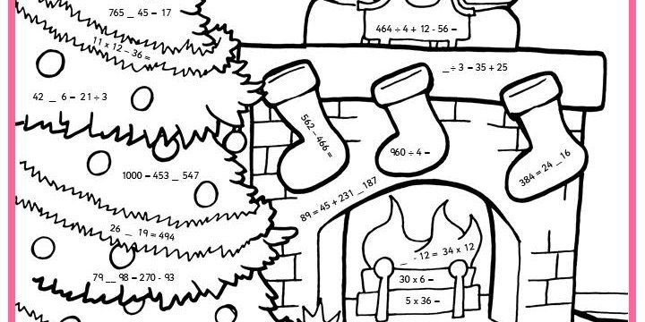 Christmas Addition Worksheets Coloring