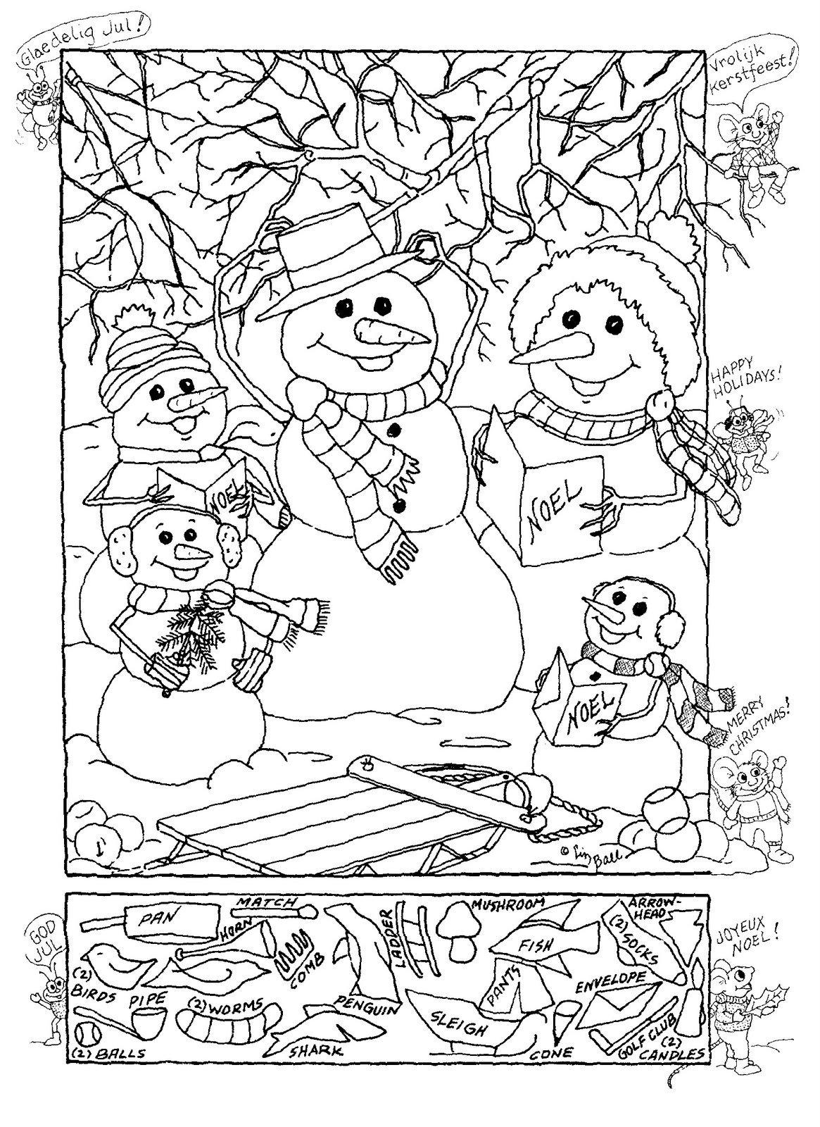 Christmas Hidden Pictures Printables Christmas Hidden Pictures