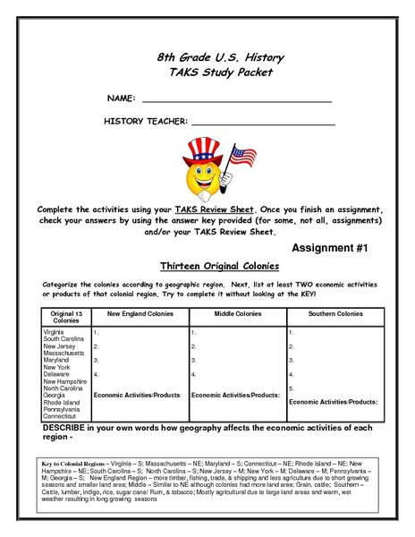 Collection Of Solutions 8th Grade History Worksheets Also Format