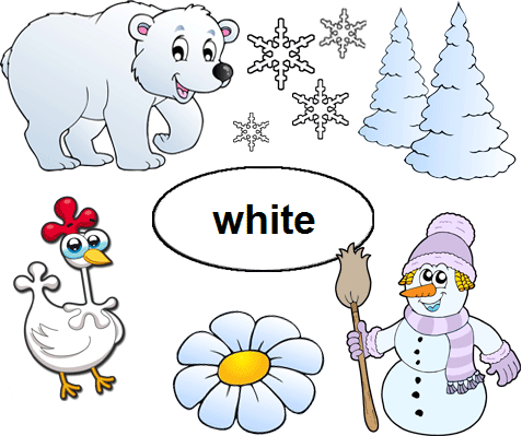 Color White Worksheets For Kindergarten