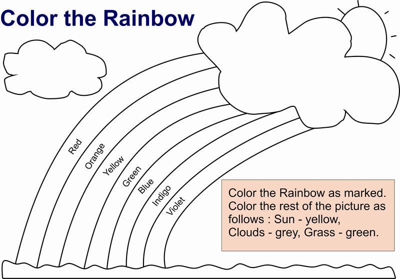 Color Worksheet For Kids Coloring Worksheet For Kids Rainbow