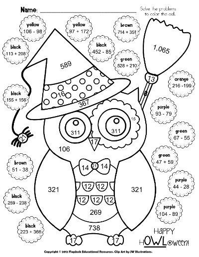 Coloring Math Worksheets For 5th Grade Fun Math Worksheets 5th
