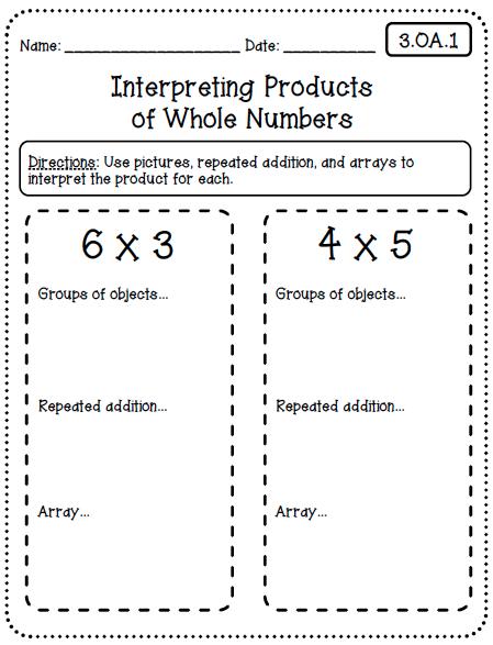 Common Core Multiplication Worksheets 3rd Grade Createteachshare