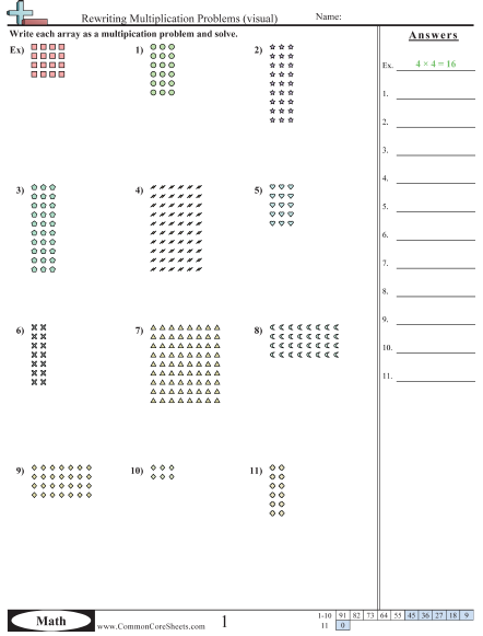 Common Core Multiplication Worksheets