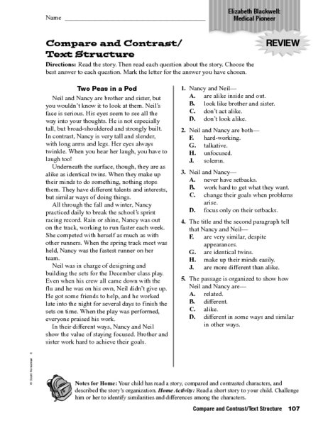 Comparing Texts Worksheets Worksheets For All