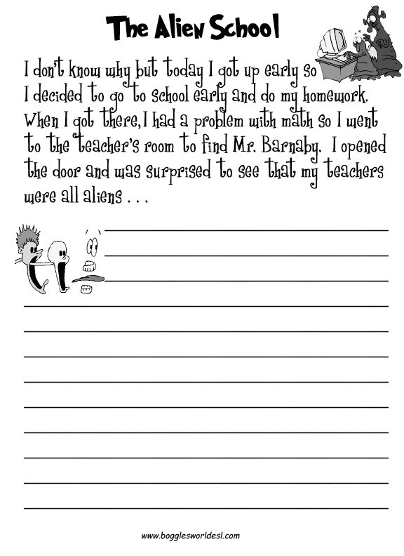 Complete The Story Worksheet Worksheets For All