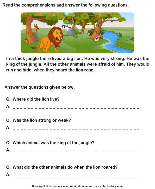 Comprehension Worksheets For Grade 1 Worksheets For All