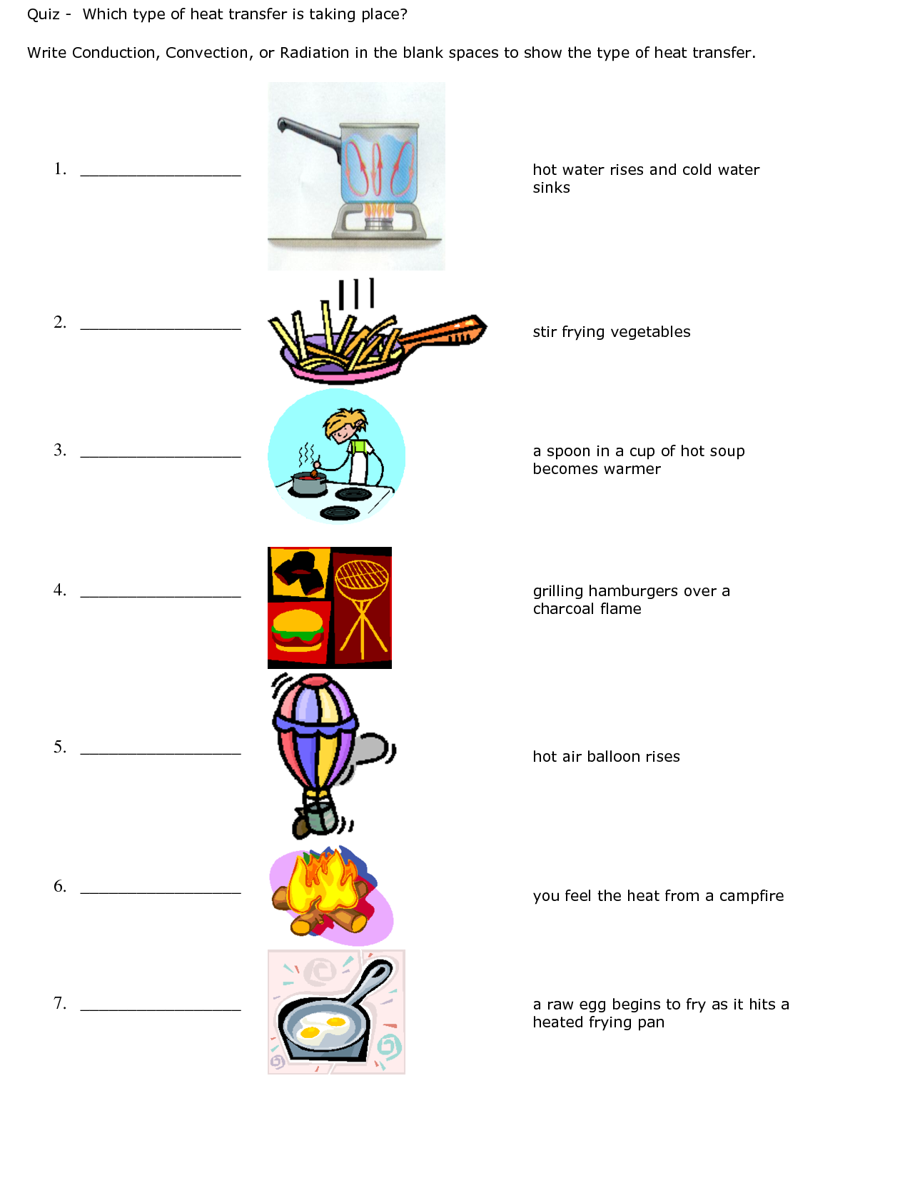 Conduction Convection Radiation Worksheets The Best Worksheets