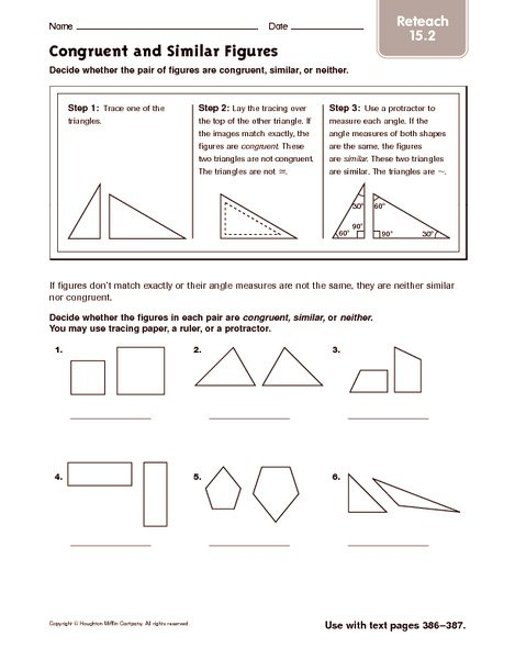 Congruent And Similar Shapes Worksheets Worksheets For All