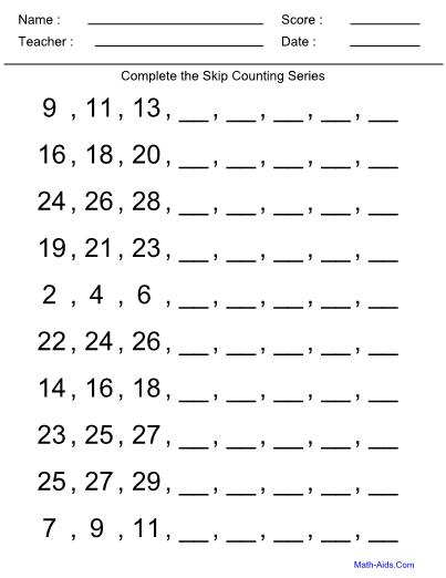 Counting Kindergarten Worksheet