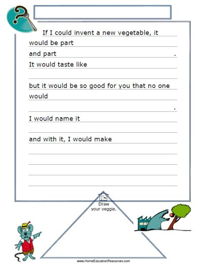 Creative Writing For Kids Free Worksheets