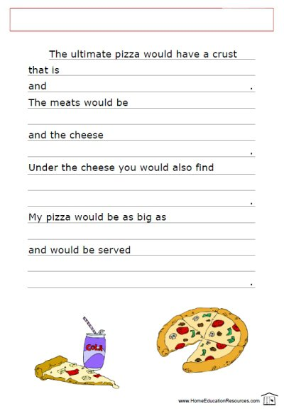 Creative Writing Worksheets For 4th Graders