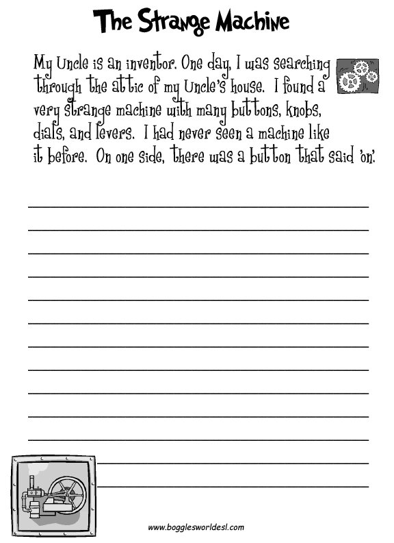 Creative Writing Worksheets For Grade 1