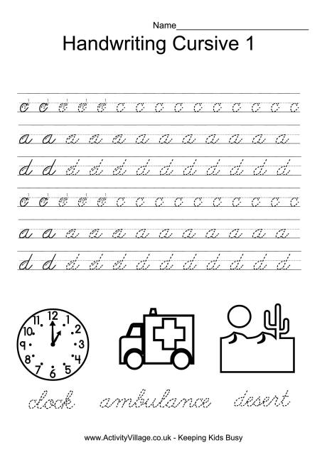 Cursive Handwriting Worksheets Cursive Handwriting Worksheets