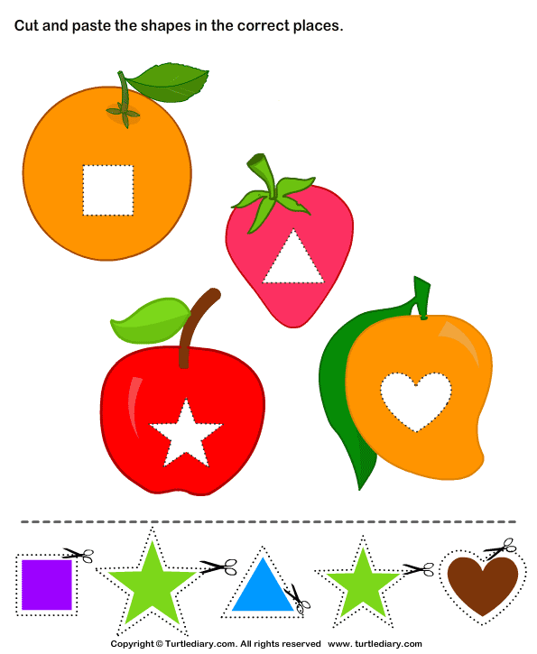 Cut And Paste Shapes Activities For Kids