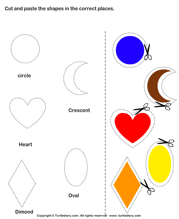 Cut And Paste Worksheets Art And Craft Activities For Kindergarten