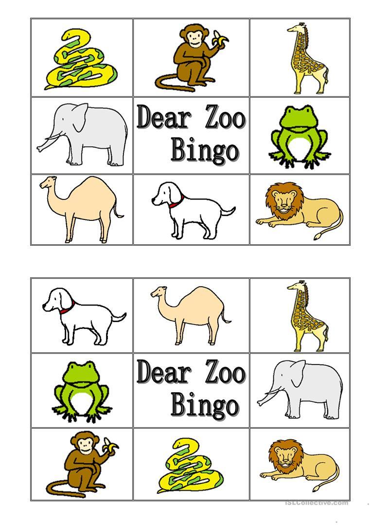 Dear Zoo Worksheet