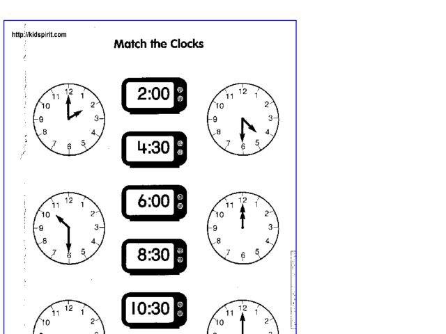 Digital Time Worksheet Year 1