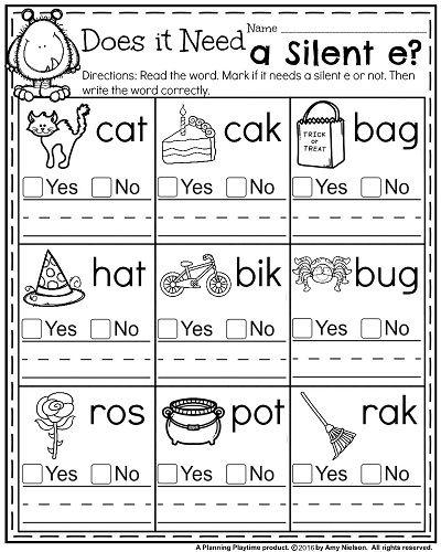 Digraph Worksheets For 1st Grade