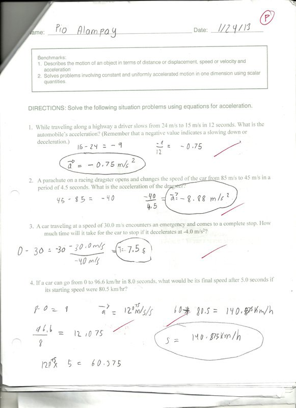 Distance And Displacement Worksheet Answers Distance And
