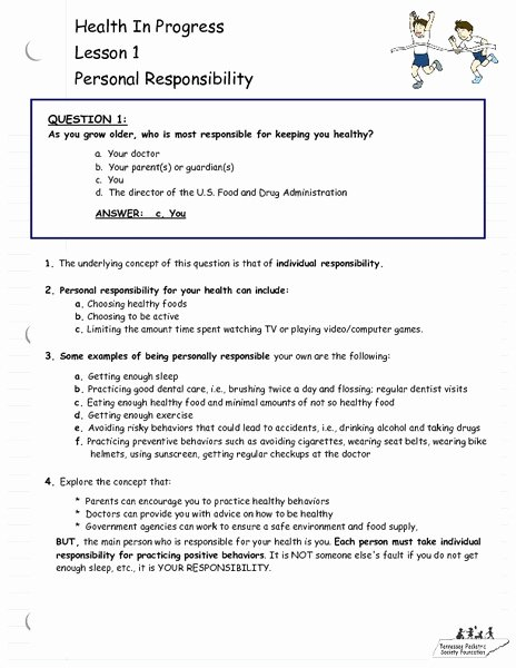 Domestic Violence Worksheets Awesome Personal Responsibility