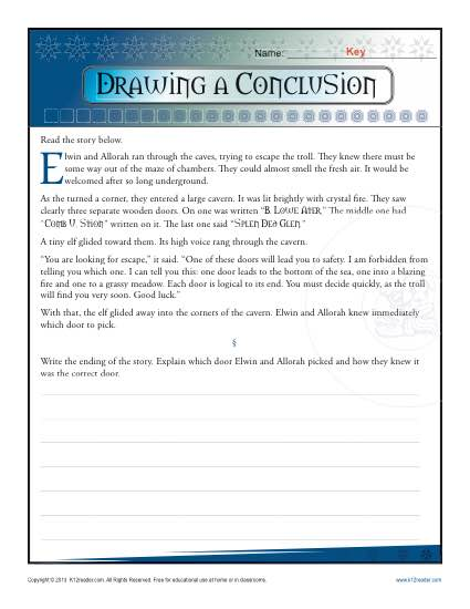 Drawing A Conclusion Worksheets