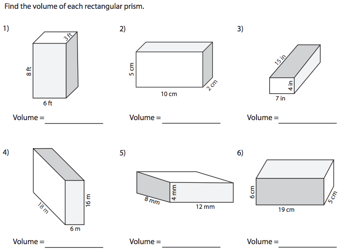 Endearing Volume Of Rectangular Prism Worksheet Answers For World