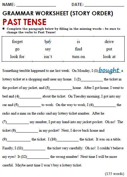 English Grammar Worksheets For Grade 4 Pdf