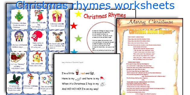 English Teaching Worksheets  Christmas Rhymes