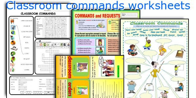English Teaching Worksheets  Classroom Commands