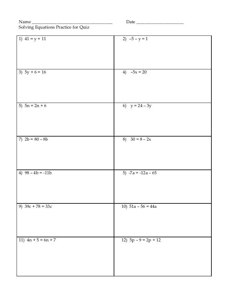 Equation Practice Worksheet The Best Worksheets Image Collection