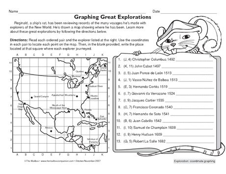 European Explorers Worksheets