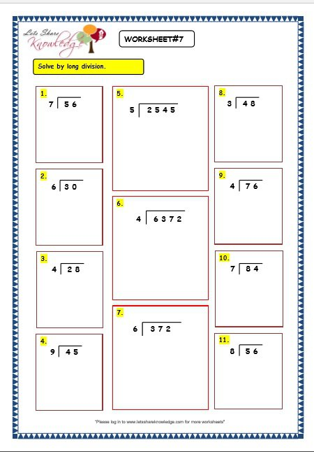 Fair Division Worksheets Without Remainder About Grade 3 Maths